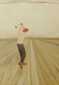 Golf a good swing 60x42 cm