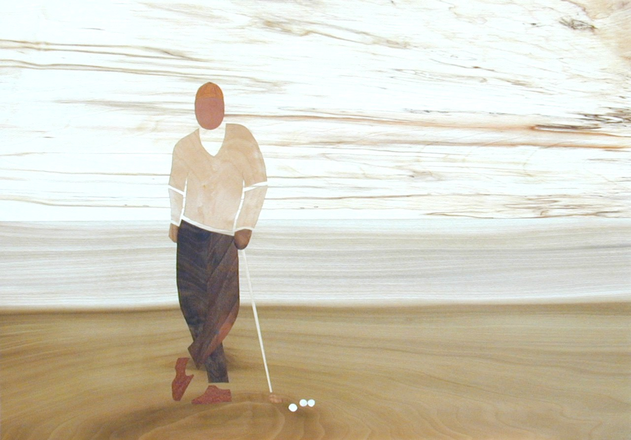 Golf waiting 60x42 cm